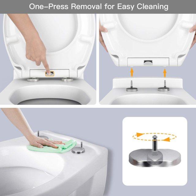 Plastic Version Pipishell Soft Close Toilet Seat Standard Toilet