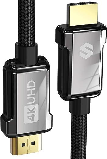 Câble HDMI 4K 2m, Silkland Câble HDMI 2.0 Haute Vitesse 18Gbps Supporte 4K@60Hz, ARC, HDR, 3D, Ethernet - Câble HDMI 30Awg en Nylon Tressé & Alliage de Zinc pour TV, Blu-ray, PS4/PS5, Xbox, Projecteur