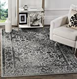 Safavieh Adirondack Collection ADR109B Grey and Black Oriental Vintage Distressed Area Rug (3' x 5')