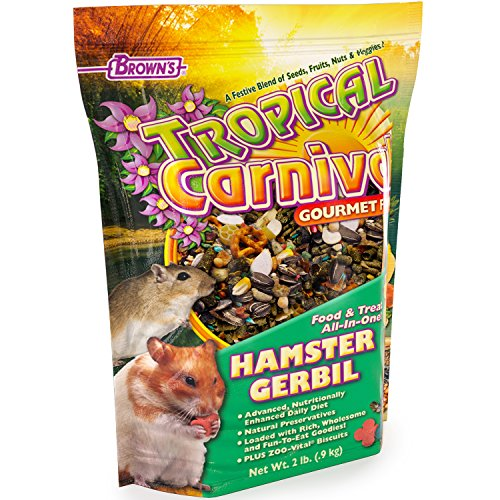 Tropical Carnival F.M. Brown's Gourmet Hamster Gerbil Food Fruits, Veggies, Seed Grains, Vitamin-Nutrient Fortified Daily Diet