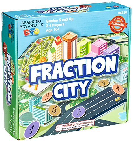 Learning Advantage 4720 Fraction City Game, Grade: 3