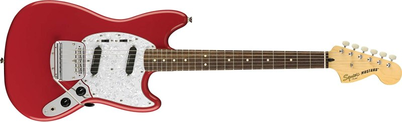 Squier by Fender Vintage Modified Mustang Beginner Short Scale Electric Guitar - Fiesta Red