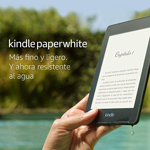 "Kindle Paperwhite - Resistente al agua, pantalla de alta resolución de 6"", 8 GB, incluye ofertas especiales"