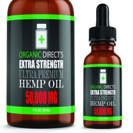 Hemp Oil (2 Pack :: 50,000mg Each) Pain Relief Anxiety Relief Sleep Support :: Organic – Hemp Extract Supplement