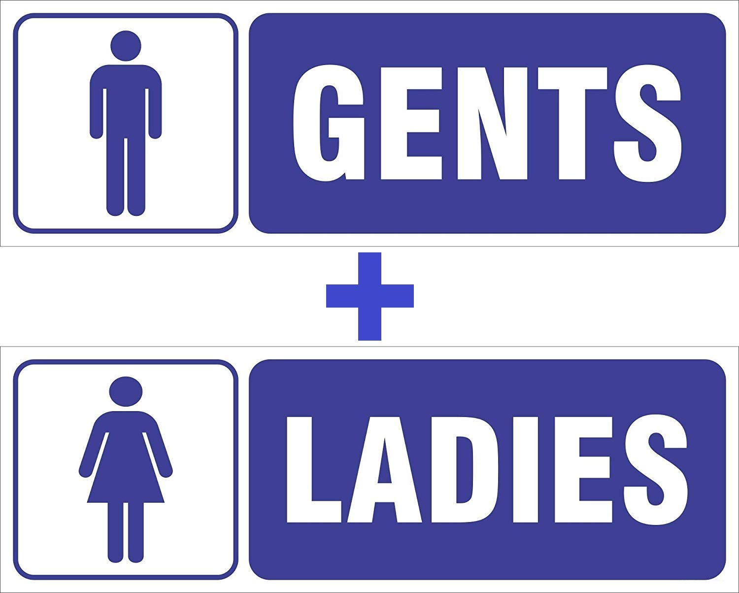 Kreepo Gents Ladies Toilet Sign Board Sticker Combo Pack Of 2 Amazon In Office Products