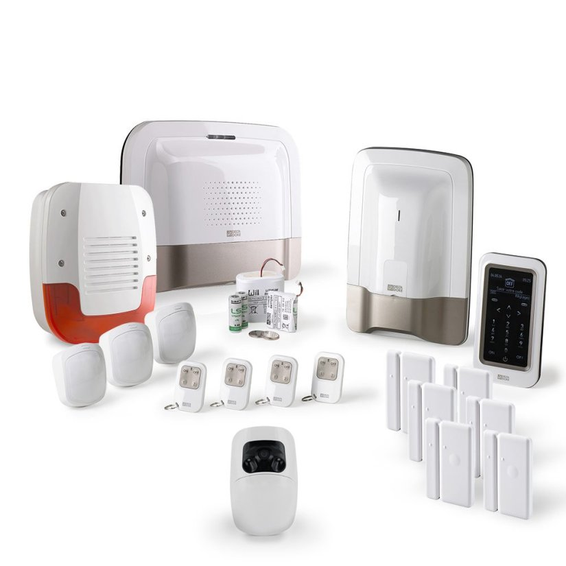 Tyxal Pack alarme maison sans fil Kit 4 GSM/IP+Caméra