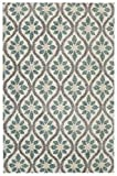 Mohawk Home Laguna Perry Floral Woven Shag Area Rug, 5'x8', Tan and Green