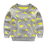 Product review for Baby Boys Cartoon Dinosaur Pullover Knitted Sweater Kids Christmas Sweatshirt