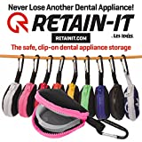 Retain-it - The Safe, Clip-on, Retainer, Mouth Guard and Dental Appliance Storage Solution! (Pink)