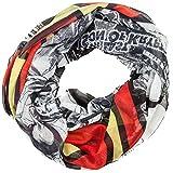 Superman Logo on Black/White Print Infinity Scarf