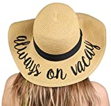 H-2017-AOV Embroidered Sun Hat, Always On Vacay, One Size