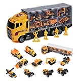 Toyard Toys for Boy and Girl, Toy Truck Car 11 in 1 Die Cast Engine Construction Car Truck Play Vehicle for Boy Gifts