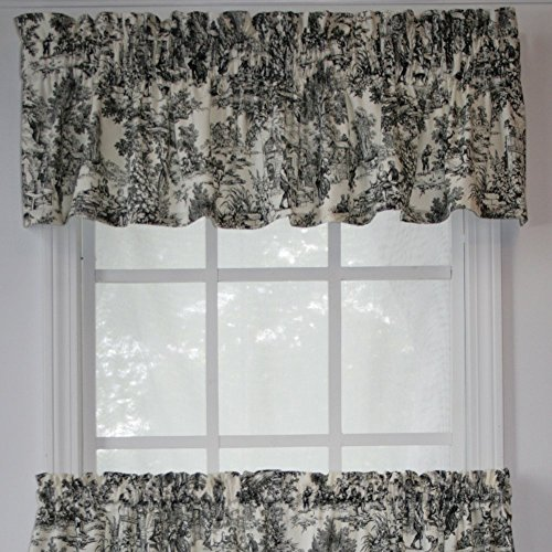 Victoria Park Toile 68 Inch By 24 Tailored Tier Curtains