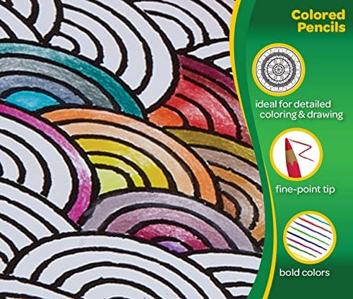 Crayola Colored Pencils, Adult Coloring, Fun At Home Activities, 50 Count, Multicolor 14