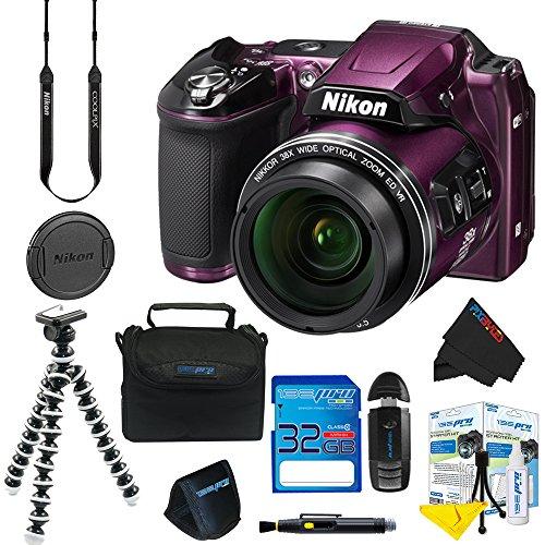 Nikon COOLPIX L840 Digital Camera (Purple) + Pixi-Basic Accessory Kit