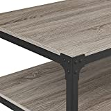 """Product review for WE Furniture Angle Iron Wood Coffee Table in Driftwood - 46"""""""