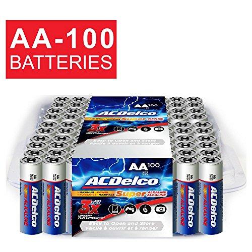 ACDelco AA Super Alkaline Batteries, 100...