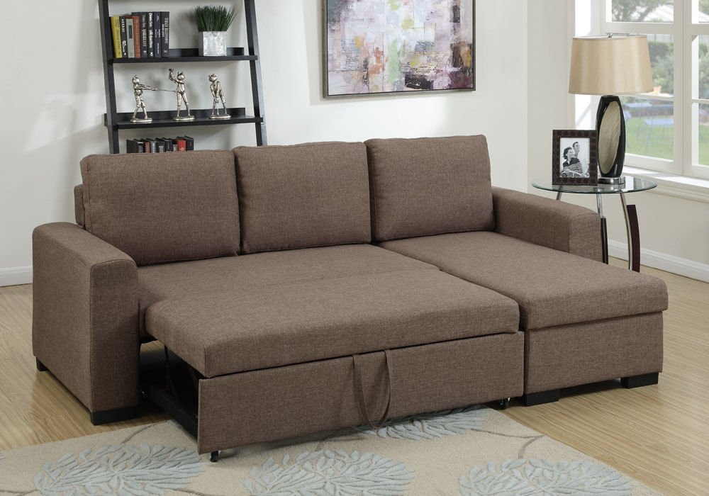 1PerfectChoice Modern 2 pcs Sectional Sofa Pull-Out Bed.