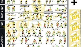 Workout Poster Banner Exercises Train Endurance, Tone, Build