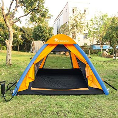 IHUNIU-INC-4-Person-Inflatable-Camping-Air-Pop-Up-Tent-Waterproof-for-Beach-Camp-Travel-Hiking-Survival-with-Air-Pump