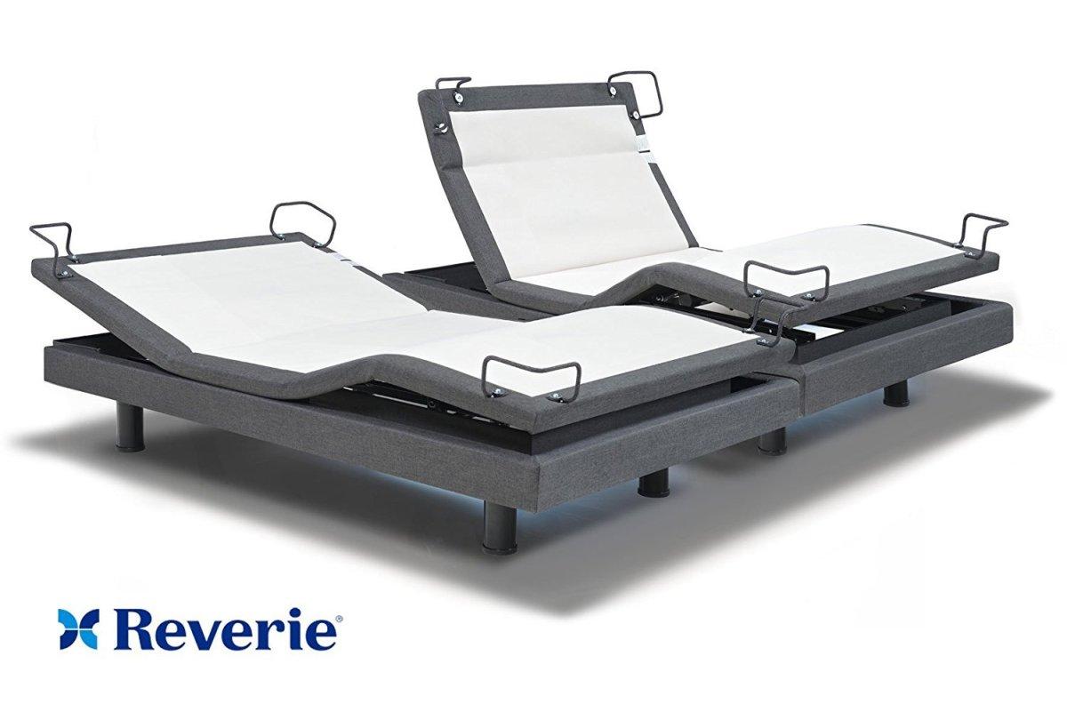 DynastyMattress Reverie Adjustable Bed Base - Wireless - Bluetooth - Massage, Under Bed Lighting, SPLIT King