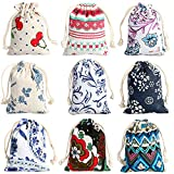 CORCIO 18Pcs Burlaps Bags with Drawstring,Fabric Gift Bag Packing Storage Linen Burlap Jewelry Pouches Sacks for Wedding Party Shower Birthday Christmas DIY Craft 5 x 7 Inch