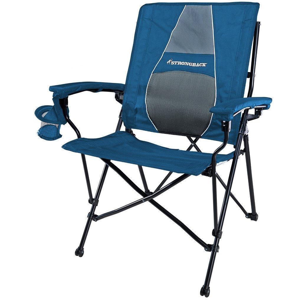 Amazon.com : STRONGBACK Elite Folding Camping Chair We keep these chairs on the back deck of our boat – super comfy and folds up nicely.