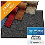 casa pura Premium Entry Mat | Entrance Mat Comparison Test Score: Very Good (A-/1.3) | Ideal as Front Door Mat or Entry Rug | Charcoal Gray - 36' x 48'