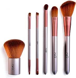 MSQ 6pcs portátil profesional pinceles de maquillaje con