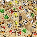 inTemenos Dominos for Kids - Wooden Dominoes - Domino Game Funny Animals