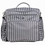 Zohzo Aldridge Diaper Backpack - Diaper Bag with Changing Pad, Insulated Pockets, Wipes Pocket, Waterproof Material, Stroller Straps, and Shoulder Strap (Gray)
