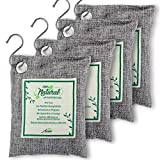 Air Purifier Bags with Bamboo Activated Charcoal (Purifying Pack of 4) | Natural Air Freshener Deodorizer | Moisture Absorber and Odor Eliminators for Home, Car, Refrigerator, Closet (200g Each)