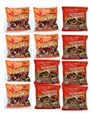 Fried Pork Skins Very Hard Strips Mixed Pack Plain 6 Red Pepper 6 (3.25 oz bags)