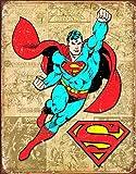 "Desperate Enterprises Superman Weathered Panels Tin Sign, 12.5"" W x 16"" H"