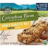Cascadian Farm Organic Nut Protein Chewy Bars, Honey Roasted, 8.85 Ounce