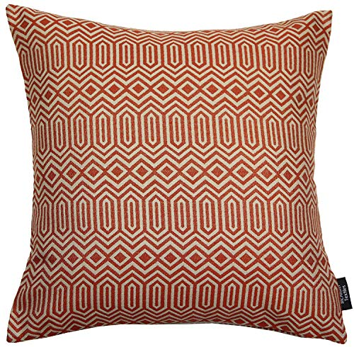 McAlister Textiles Colorado Pillow Case   Terracotta Orange Tribal Abstract Tribal Designer Throw Scatter Sofa Cushion Sham   Accessory - 24 x 24 Inches