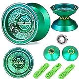 Lidodo Beboo YoYo Balls Green Unresponsive Yoyos - Pro YoYo Toy - Metal Alloy Aluminum Professional Yo Yo Bearing Reel - yoyo professional