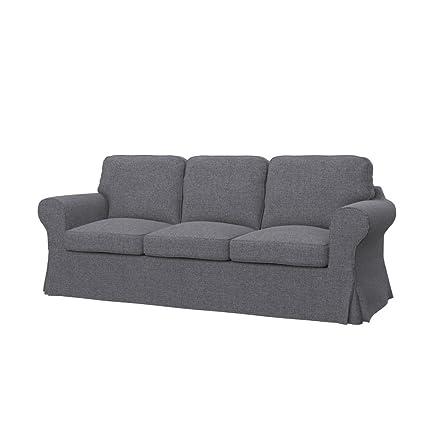 Soferia Fodera Extra Ikea Ektorp Pixbo Divano Letto A 3 Posti Tessuto Naturel Grey