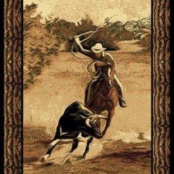 Cowboy Roper Western Rug 5 x 7