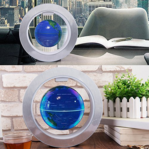 FU-ZHOU-Floating-Globe-with-Colored-LED-Lights-O-Shape-Anti-Gravity-Magnetic-Levitation-Rotating-World-Map-for-Children-Gift-Home-Office-Desk-Decoration-Round-Blue
