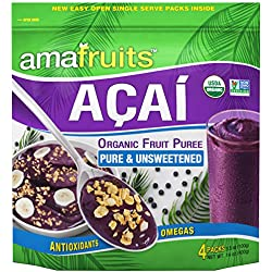 Amafruits Acai Berry Puree - Pure & Unsweetened - 24 Smoothie Packs
