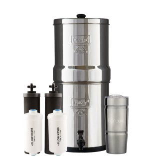 BIG Berkey Water Filter System with 2 Black Purifier Filters