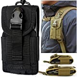 chinatera Molle Pouches, Mens Outdoor Hunt Multifunctional Accessories Bag Sundries Bags Key Cell Phone Waist Bag Pouch Case (Black)