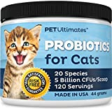 Pet Ultimates Probiotics for Cats - 20 Species - Stops Diarrhea & Vomiting, Cuts Litterbox Smell