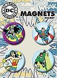 """Ata-Boy DC Comics Originals Superheroes Set of 4 1.25"""" Button Magnets for Refrigerators and Lockers"""