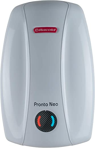 Racold Pronto Neo Instant 6 Liter 3 KW Vertical Water Heater White/Ivory - 5 Star