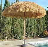 Bayside21  8' Hula Thatched Tiki Umbrella Natural Color