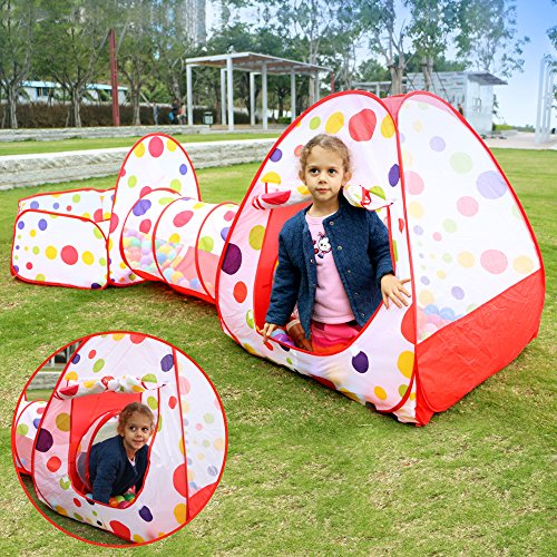 EocuSun Polka Dot 3-in-1 Folding Kids...