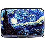 Aluminum Wallet RFID Blocking Metal Credit Card Holder Slim Hard Case (The Starry Night)