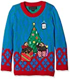 Blizzard Bay Boys Ugly Chrismas Sweater Animals, blue/red/green/sloth, 5